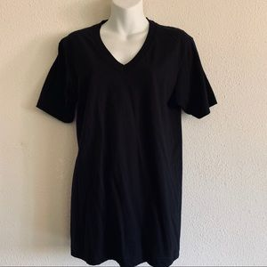 AMERICA APPAREL V NECK (black)